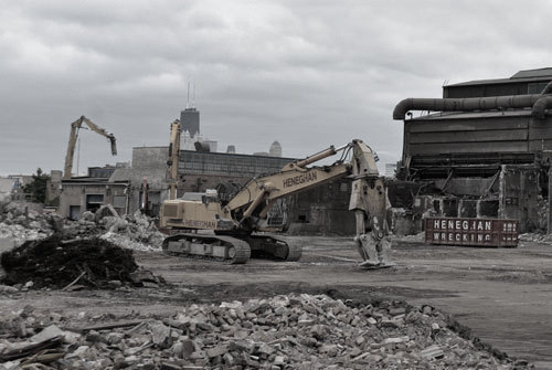 industrial demolition project in Chicago