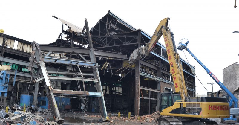 building coming down