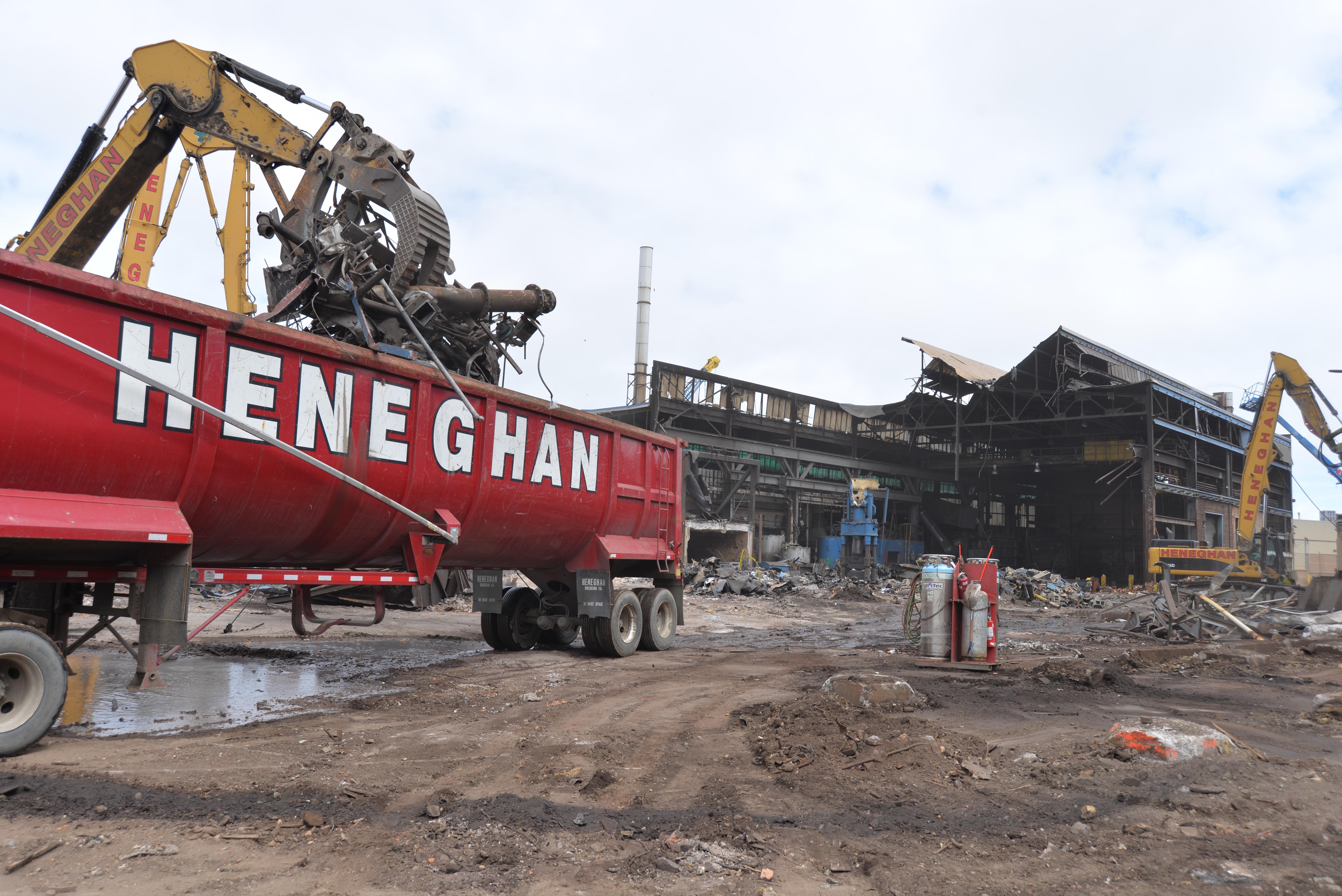 industrial total demolition project
