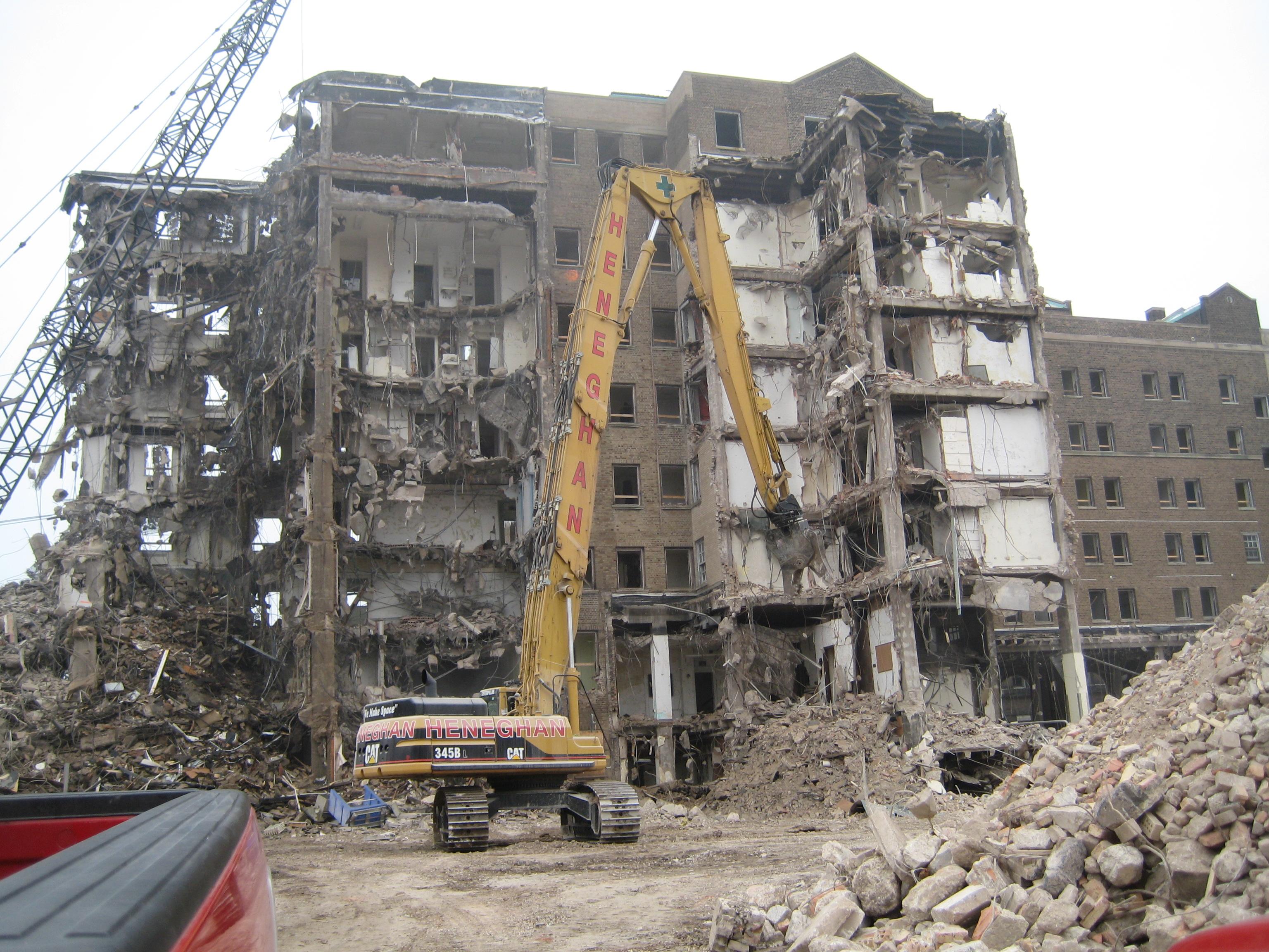 Michael Reese Hospital, healthcare demolition