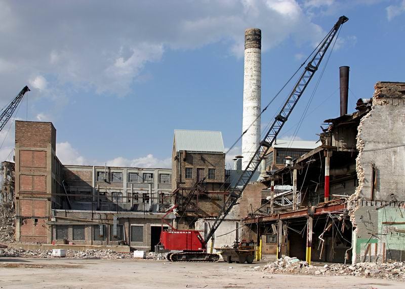 industrial demolition project, Chicago Paperboard