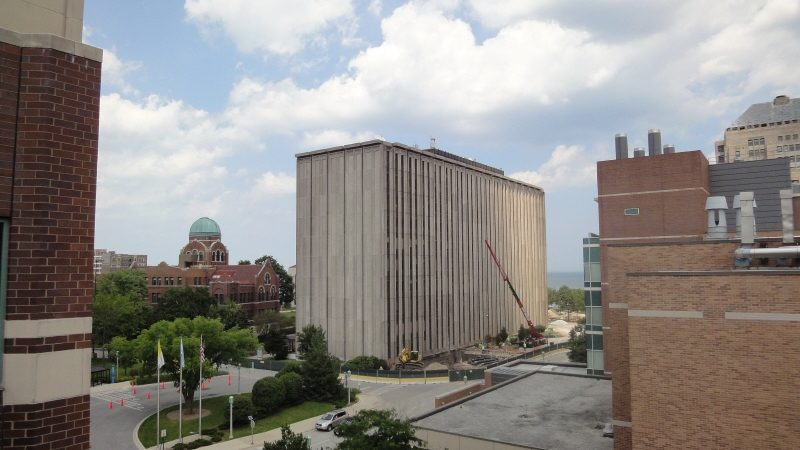 loyola damen hall before demolition