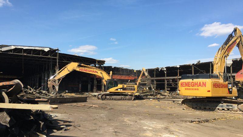 industrial demolition project - castle metal