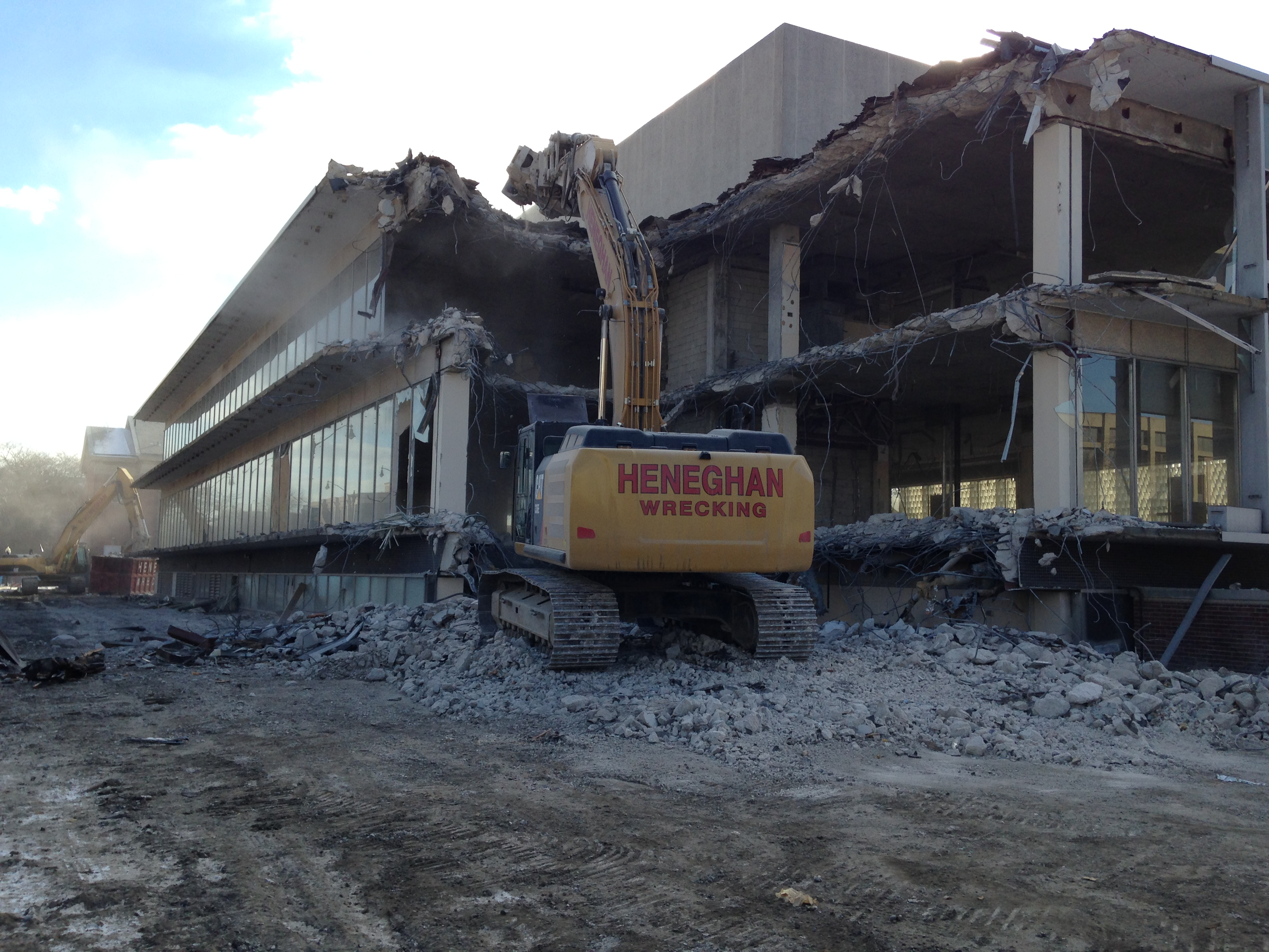 DePaul University demolition project, in Chicago IL